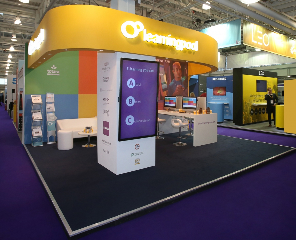 Learning Pool Exhibition Stand at Learning Technology Show, Olympia.
