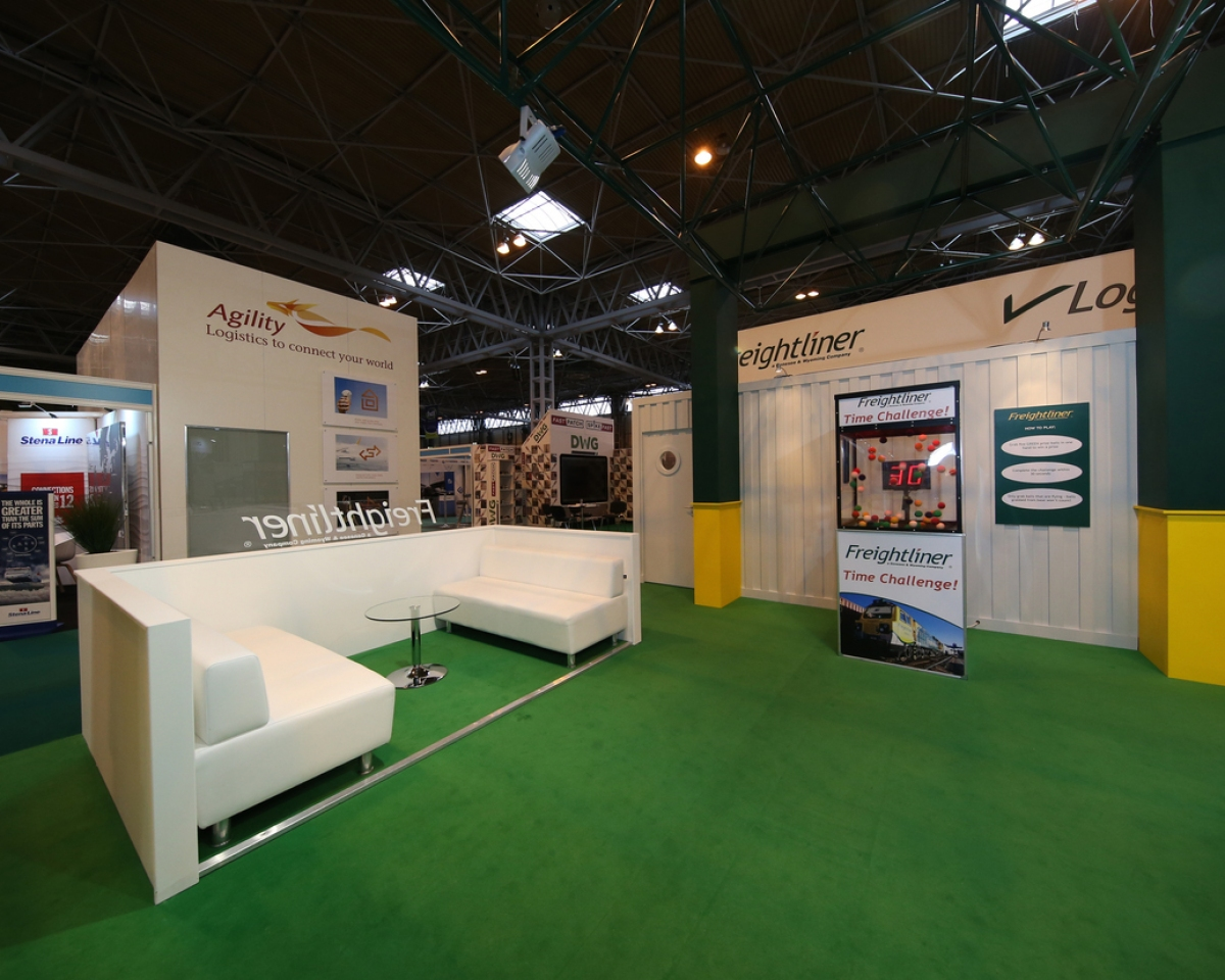 D Exhibition Uk : Freightliner exhibition stand bespoke design inspire