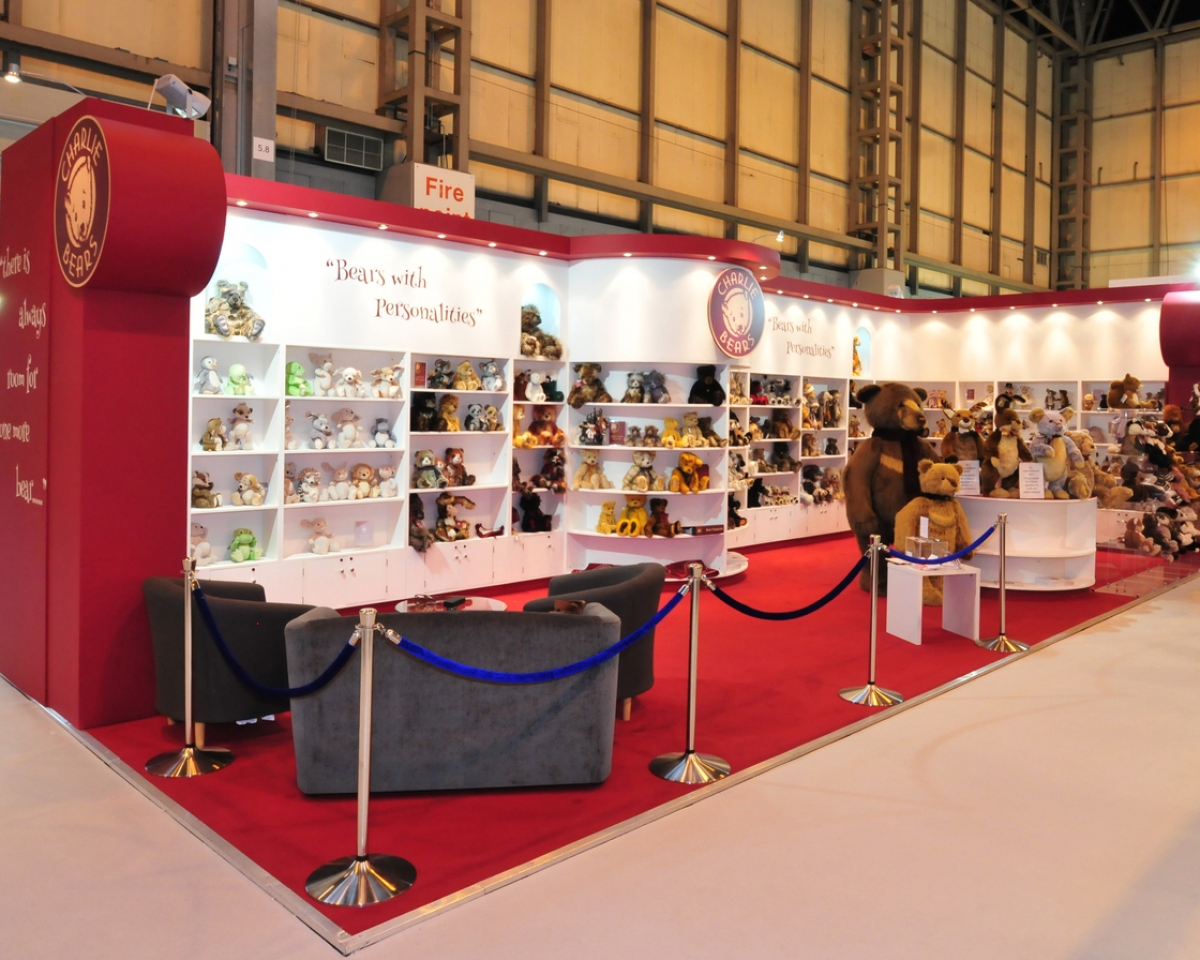 D Exhibition Uk : Charlie bears exhibition stand bespoke design inspire