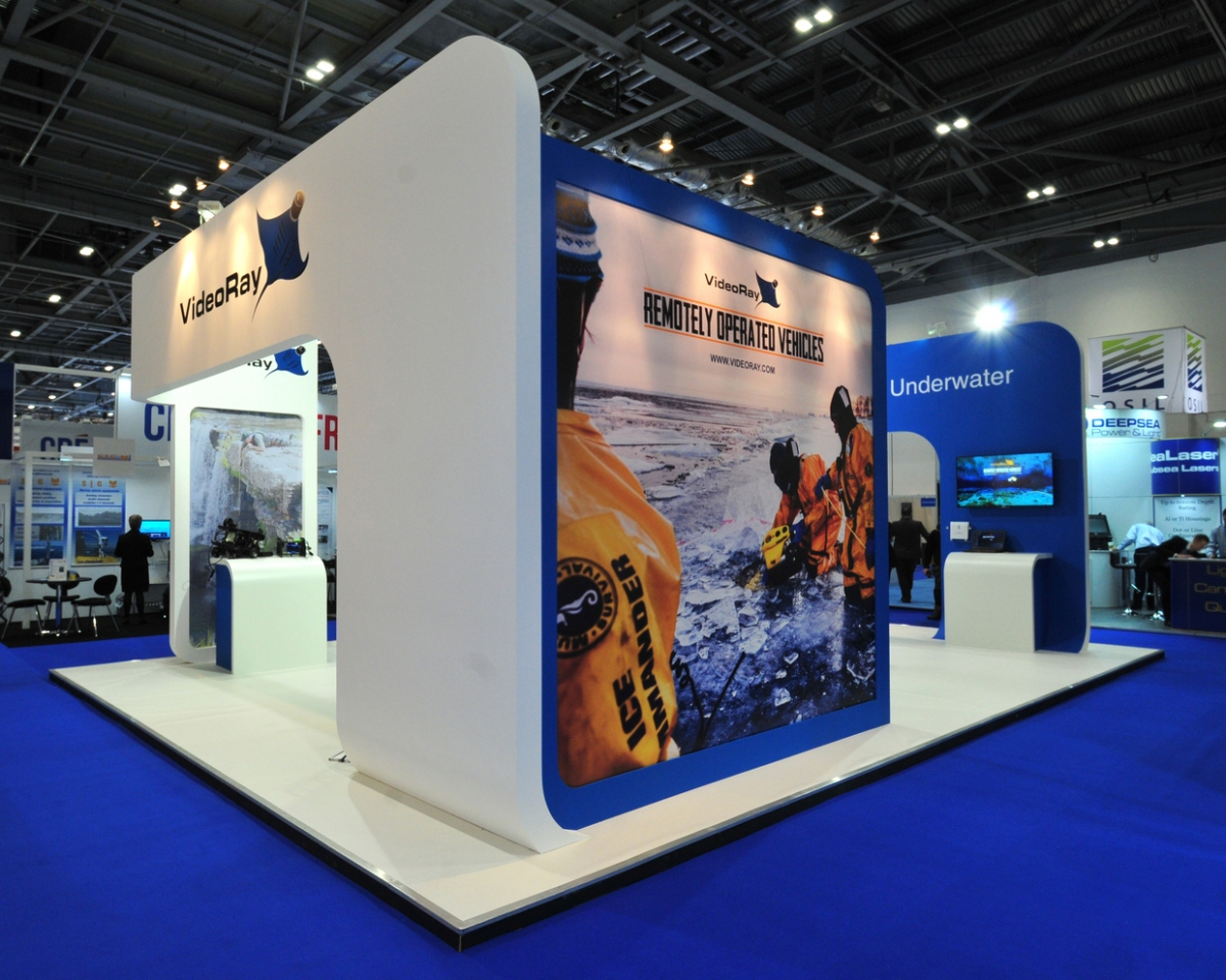 D Exhibition Uk : Videoray exhibition stand bespoke design inspire displays