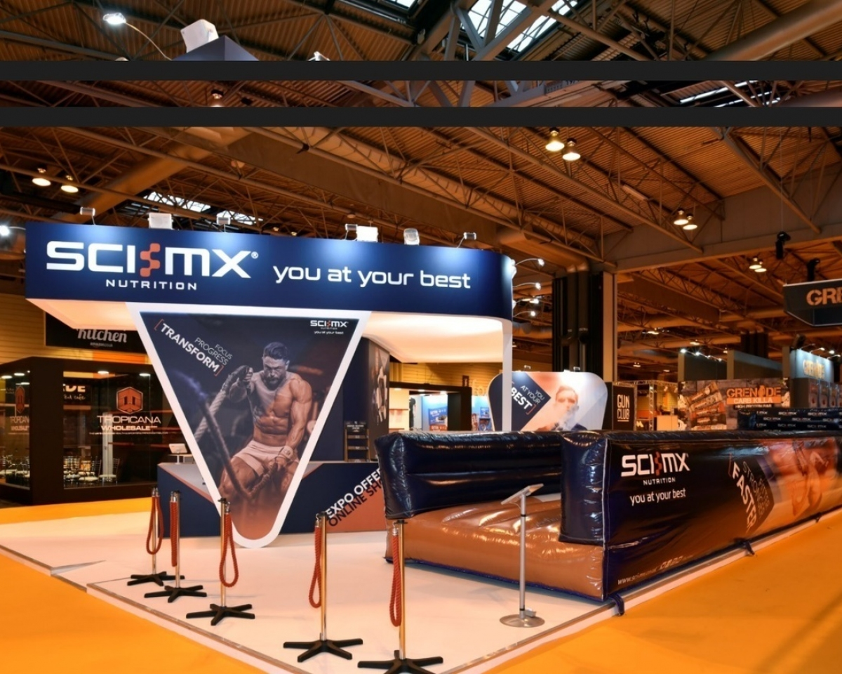 Bodypower Expo Stands : Sci mx exhibition stand space only bespoke design