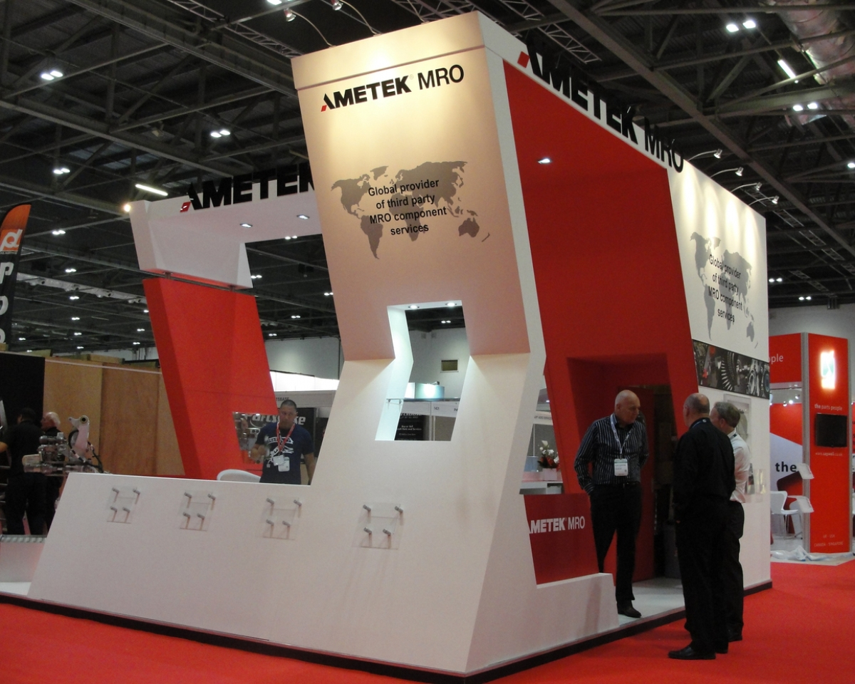 Exhibition Stand Design Guidelines : Ametek mro exhibition stand bespoke design inspire