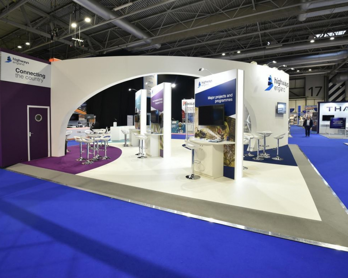 Exhibition Stand In Uk : Highways england exhibition stand custom design inspire displays