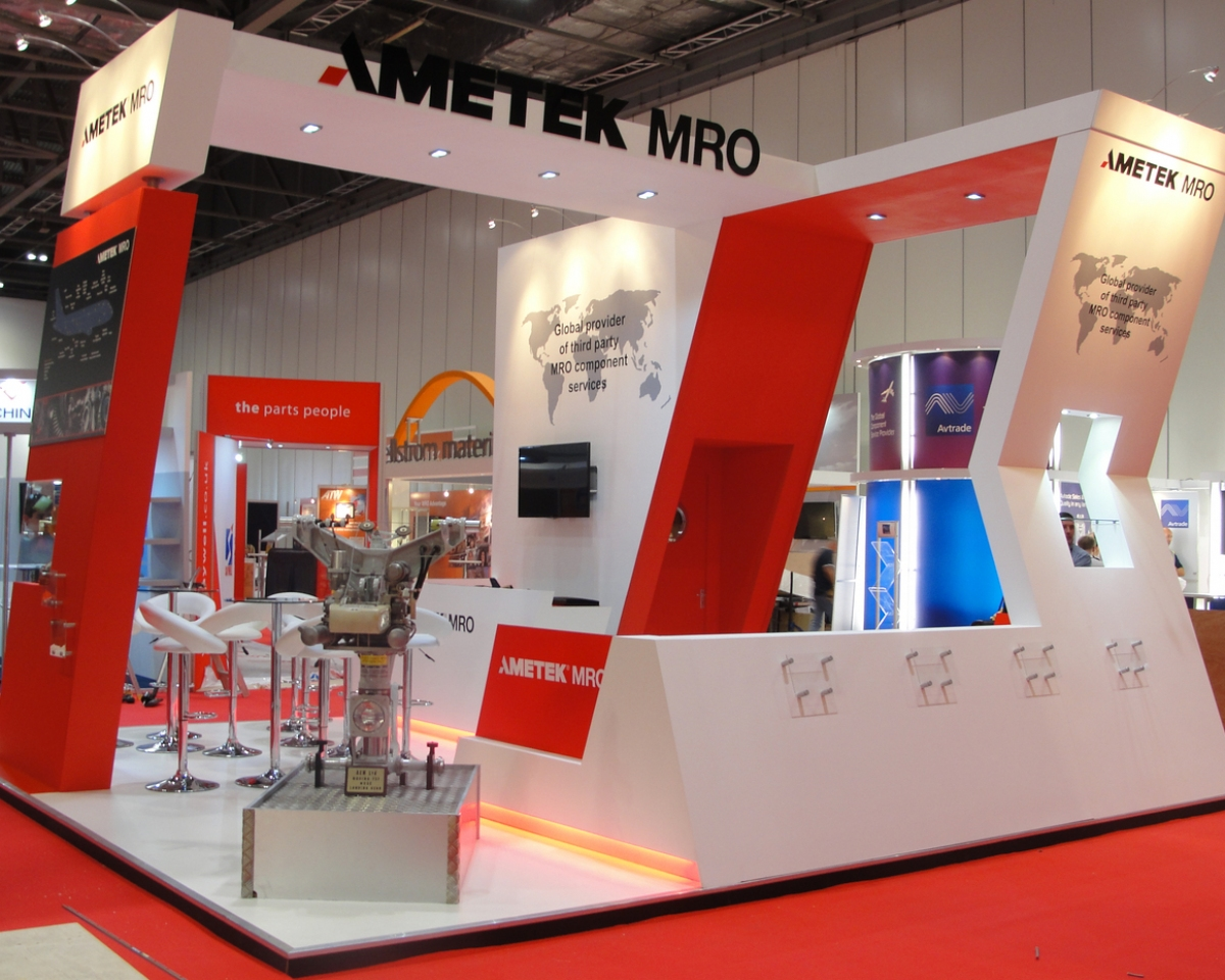 Modern Exhibition Stand Job : Ametek mro exhibition stand bespoke design inspire