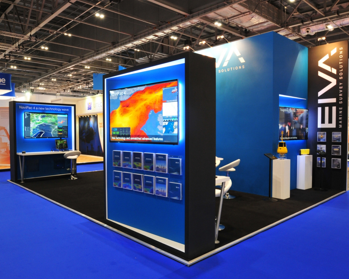 A back wall only bespoke exhibition stand.