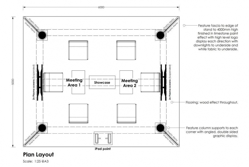 Boreham House Bespoke Exhibition Stand Floorplan Design at The National Asian Wedding Show