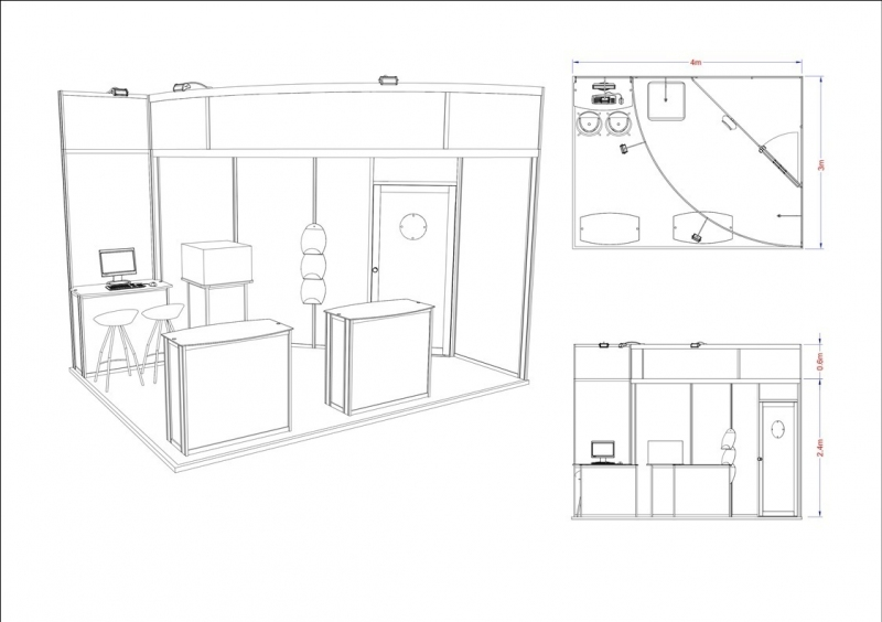 Exhibition Stand Drawing : Learning pool modular exhibition stand design inspire