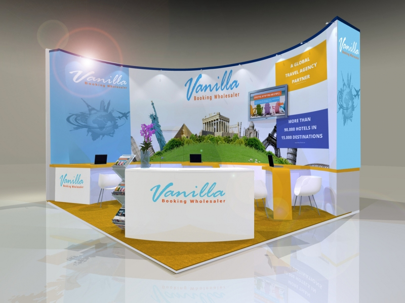 Exhibition Stand Design Agency : Vanilla tours exhibition stand bespoke design inspire