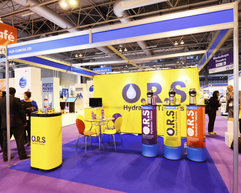 Clinova Exhibition Stand at The Pharmacy Show
