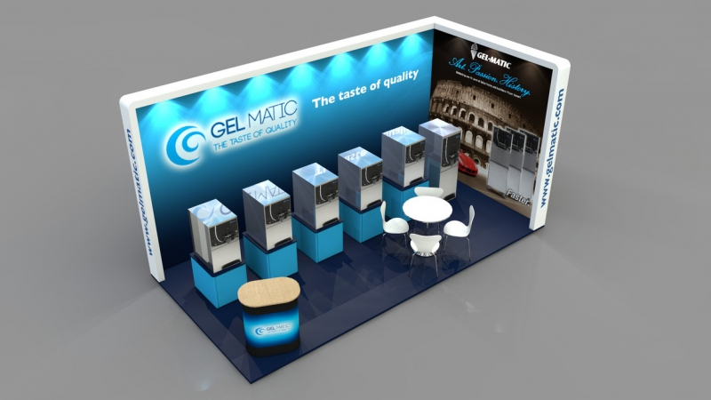 Gelmatic Exhibition Stand at The Internation Food & Drink Event