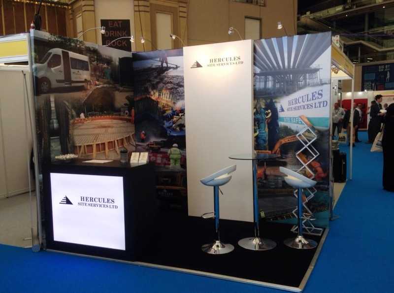Exhibition Stand Builders London : Hercules construction exhibition stand bespoke inspire