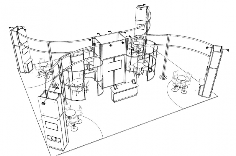 Exhibition Stand Drawing : Highways england exhibition stand a modular design
