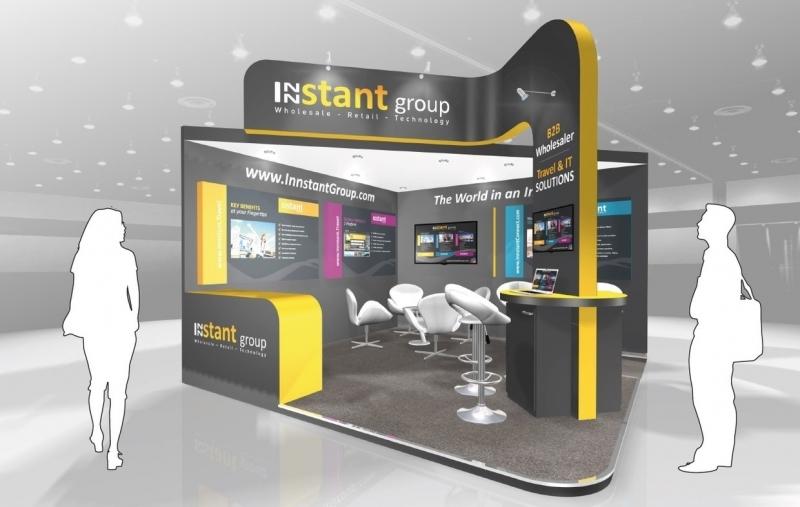Exhibition Stand Design Brief : Innstant travel exhibition stand inspire displays