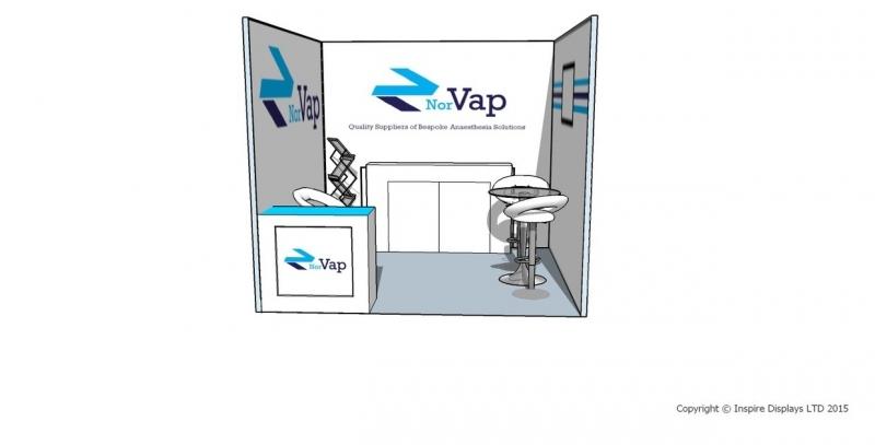 Exhibition Shell Scheme Design : Norvap exhibition stand shell scheme design inspire