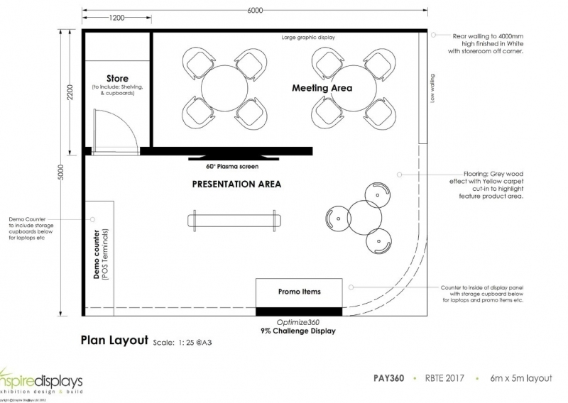 Pay360 by Capita Exhibition Stand Plan Design