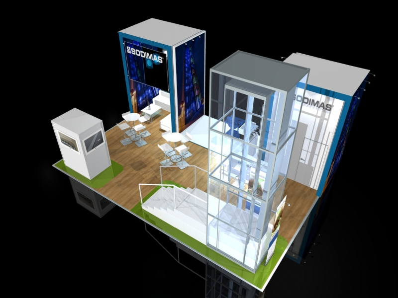 Sodimas Exhibition Stand at LIFTEX